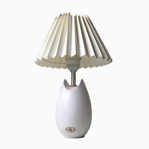 Vintage Danish White Ceramic Table Lamp by Per Rehfeld for Søholm