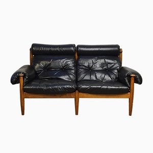 Scandinavian Leather Sofa by Eric Merthen for Ire Møbler, Sweden, 1960s