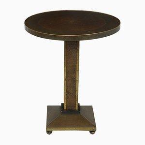 Art Deco Brass and Copper Wine Table, 1930s