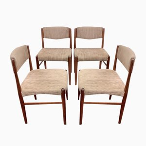Dining Chairs in Teak from Glostrup, Denmark, 1960s, Set of 4
