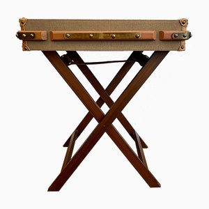 Wooden Side Table with a Removable Tray