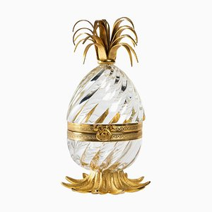 Gilded Bronze and Crystal Egg Candy Box