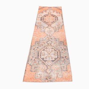 Vintage Handmade Oushak Runner in Orange Wool