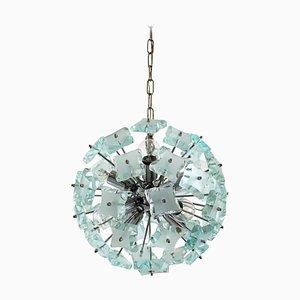 Mid-Century Italian Cut Glass Sputnik Chandelier from Zero Quattro 04, 1960s