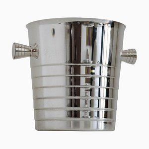 Silver Plated Ice Bucket or Wine Cooler from Christofle, France, 1980s