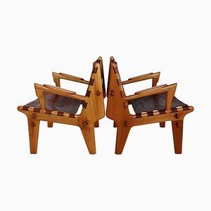 Mid-Century Ecuadorian Armchairs by Angel Pazmino, 1960s, Set of 2