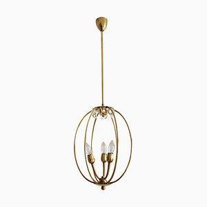 Mid-Century Italian Brass Pendant Lamp in Minimalist Style, 1950s