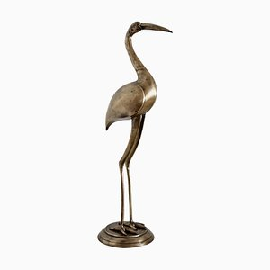 Italian Brass Heron or Crane, 1970s