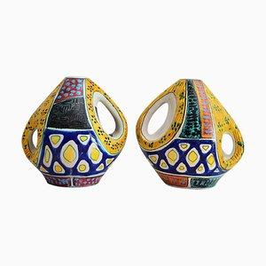 Italian Ceramic Vases from Valceresio, 1950s, Set of 2