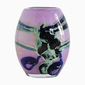 Glass Collectors Vase in Purple by Sam Herman for Val St. Lambert, 1970s