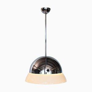 Italian Glass and Chrome Pendant Lamp by Vico Magistretti for Artemide