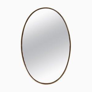Italian Wall Mirror with Brass Frame, 1960s