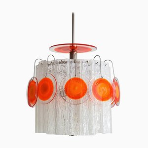 Italian Pop Art Murano Art Glass Chandelier from Vistosi, 1970s