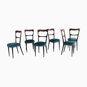 Italian Dining Chairs in the Style of Paolo Buffa, 1950s, Set of 6