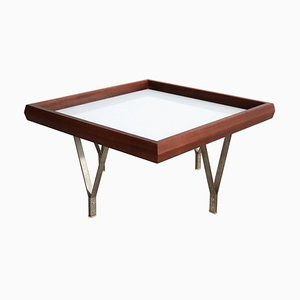 Italian Coffee Table in Mahogany and Glass by Ico & Luisa Parisi, 1960s