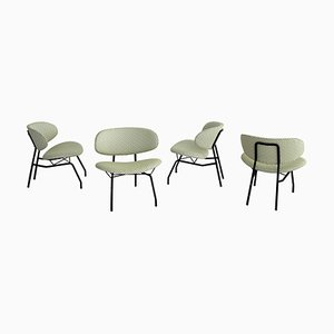 Italian Lounge Chairs by Ettore Sottsass for Poltronova, 1950s, Set of 4