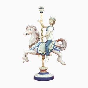 Lladro Figurine of Boy on Carousel Horse