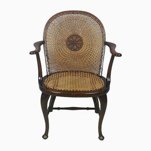 Edwardian Beech Framed Armchair