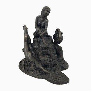 Bronze Figurine of Bathing Ladies