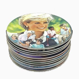 Franklin Mint Heirloom Collection, Diana, Princess of Wales, Set of 12