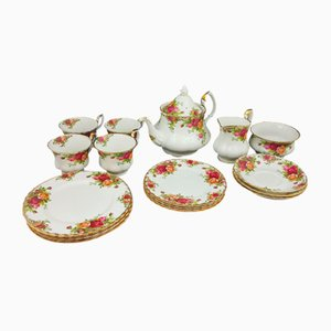 Royal Albert Old Country Roses China Tea Set, Set of 19