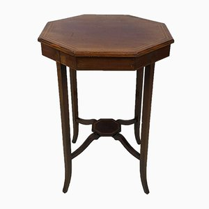 Inlaid Mahogany Octagonal Shaped Occasional Table