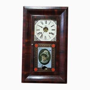 Victorian Mahogany Wall Clock from Waterbury Clock Company