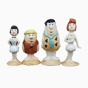 Beswick Figurines Barney Rubble, Fred Flintstone, Wilma Flintstone & Betty Rubble, Set of 4