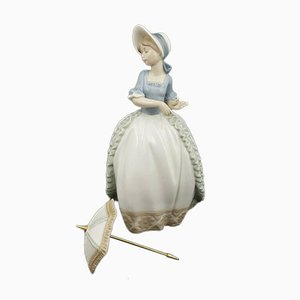 Nao Figurine Young Girl with Detachable Parasol / Umbrella from Lladro
