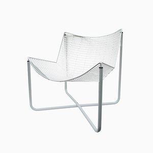 Sedia a rete Jarpen bianca di Niels Gammelgaard per Ikea, 1983