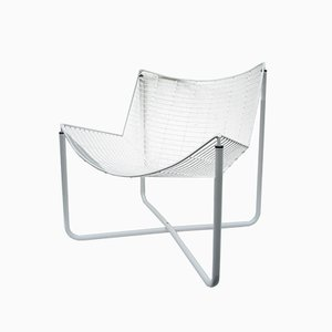 White Jarpen Wire Chair by Niels Gammelgaard for Ikea, 1983