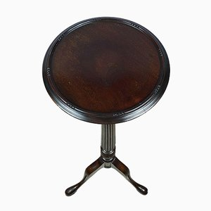 Wooden Torchere Pedestal Stand with Fluted Column Tripod