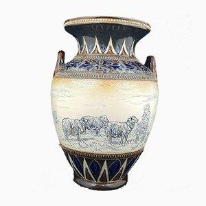 Vase with Handles by Hannah Barlow for Royal Doulton