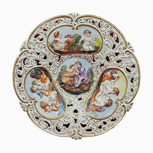 Moulded Dish with Cherubs from Capodimonte