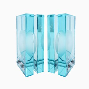 Glass Table Lamps from Fontana Arte, Set of 2
