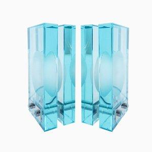 Tischlampen aus Glas von Fontana Arte, 2er Set
