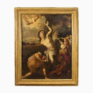 Antique Italian Saint Sebastian Painting, 17th Century