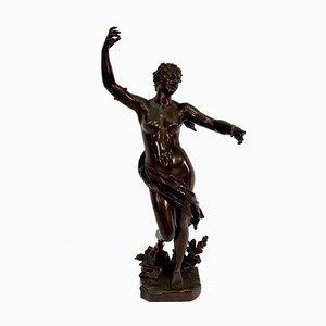 Bronze La Jeunesse Sculpture by F. Charpentier, Late 19th Century