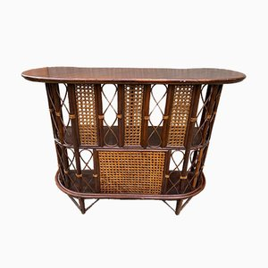 Vintage Rattan and Cane Bar Counter, 1970s