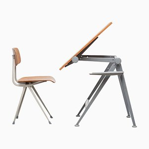 Reply Drafting Table & Result Chair by Wim Rietveld and Friso Kramer for Ahrend De Cirkel, 1950s