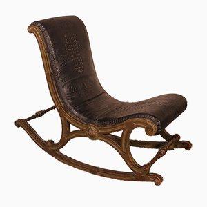 Napoleon III Polychrome Rocking Chair
