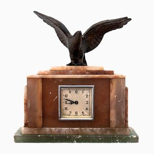 Marble Table Clock, Mid-20th Century