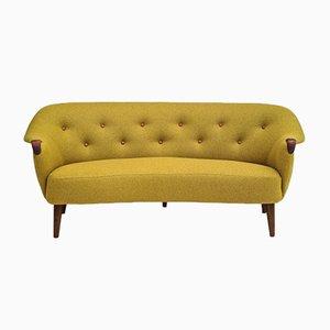Danish Sofa Reupholstered in Wool, 1960s