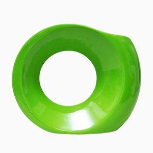 Green Ceramic Vase Ring from Parravicini, 1960s