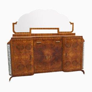 Italian Art Deco Sideboard with Mirror