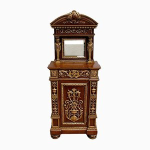 Small Renaissance Style Carved Wood Cabinet, Late 19th Century