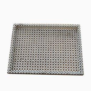 Rectangular Tray in Perforated Metal by Mathieu Matégot, 1950s