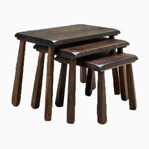 Vintage Brutalist Nesting Tables, 1970, Set of 3