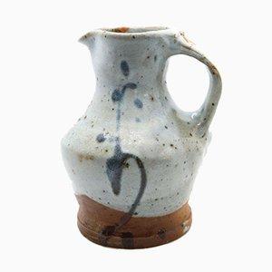 Glazed Stoneware Pitcher in Shades of Blue by Anne Kjærsgaard for La Borne