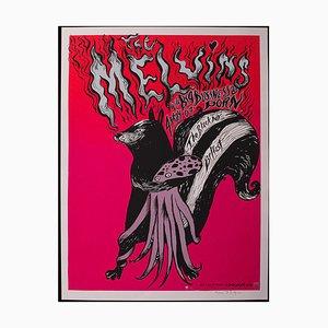 The Melvins Rock Concert Poster or Decorative Screenprint, USA
